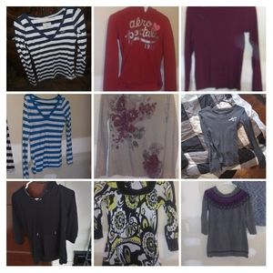 Size small long sleeve top lot name brand